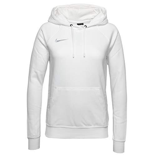 Nike Damen Women's Team Club 20 Hoodie Kapuzenpullover, White/White/Wolf Grey, S