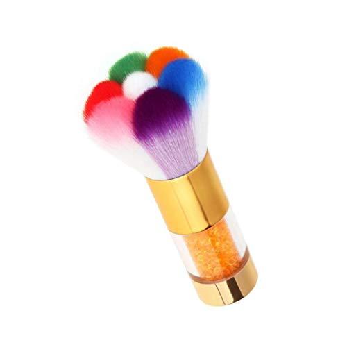 Nail Art Pincel De Limpieza del Limpiador del Removedor del Polvo del Cepillo con Diamantes De Imitación De La Manija De Acrílico Y UV del Gel del Clavo (de Oro) Amigos