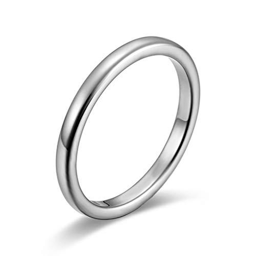 指輪 メンズ アクセサリー タングステン リング カップルの贈り物 ピンキーリング シルバー