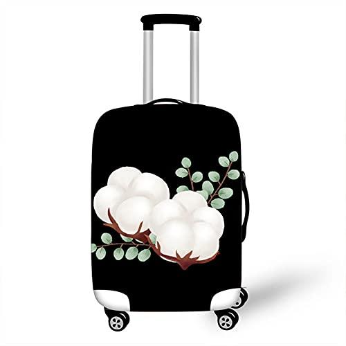 Surwin 3D Elastica Proteggi Valigia Suitcase Luggage Cover Coperchio di Protezione Antipolvere Lavabile Copertura Viaggio Proteggi Bagagli Coprire (Cotone bianco 3,L (26-28 pollici))