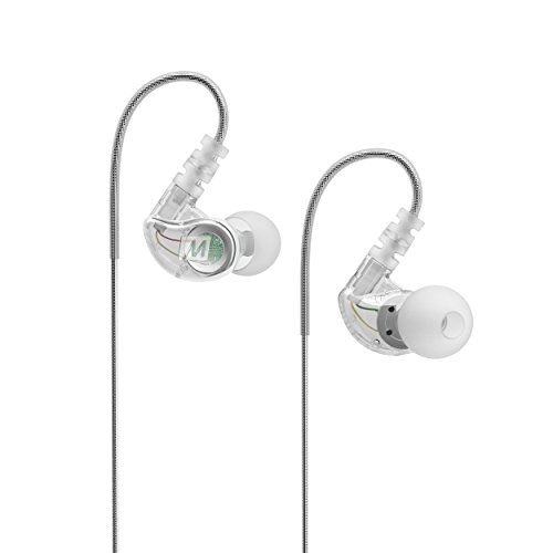 MEE audio Sport-Fi Earphone-M6CL-MEE Noise Isolating In-Ear Headphones with Memory Wire (Clear)