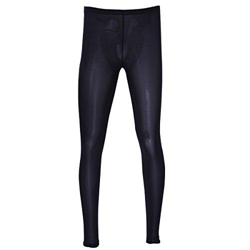 YiZYiF Hommes Lingerie Pantalons Transparent Legging Compression Tight Pants Hommes Collant (M, Noir)