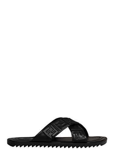 FENDI Luxury Fashion Herren 7X1222AADSF0QA1 Schwarz Leder Sandalen | Frühling Sommer 20