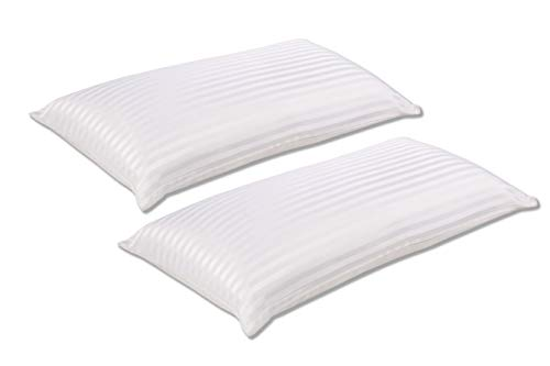 SEASONS Pack Dos Almohadas extrafirme de Fibra antiácaros,70 cm, 100% algodón satén