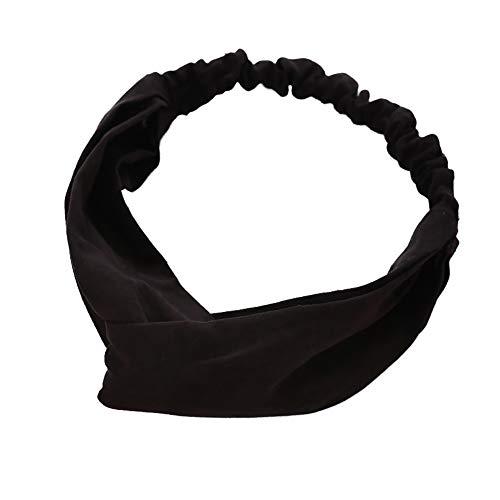 Beiguoxia Beiguoxia le meilleur mais que Mode noué en daim Bandeau élastique Femme Head Wrap Coiffure Cheveux Accessoires – Noir
