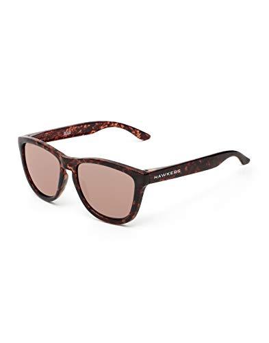 HAWKERS Gafas de sol, Negro/Rosa Dorado, One Size Unisex Adulto