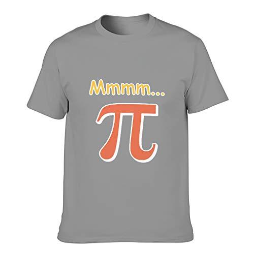 Mmmm PI - Camiseta de algodón para hombre, diseño de matemáticas Dark Gray XXXXXL