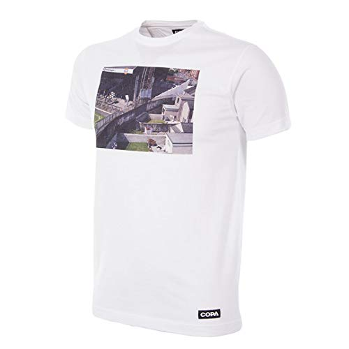 Copa Homes of Football Swansea City Herren-T-Shirt, Rundhalsausschnitt, Weiß, Größe S