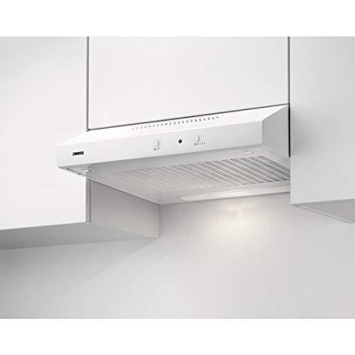 Zanussi ZHT631W / Abluft oder Umluft / 60cm / Weiß/max. 75 m³/h/min. 56 – max. 73 dB(A) / Schiebeschalter