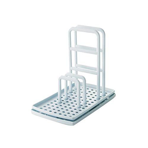 Estante de almacenamiento de cocina escurridor de paños de limpieza de esponja soporte de almacenamiento de trapo estante de cocina (color: BU)