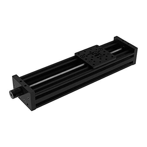 Ln 3D Printer T8 Lead Screw Z-axis DIY C-Beam CNC Sliding Table 300mm 350mm 400mm 500mm Linear Actuator Bundle Kit - Black (Color : Black, Size : Lead 4mm 500MM)