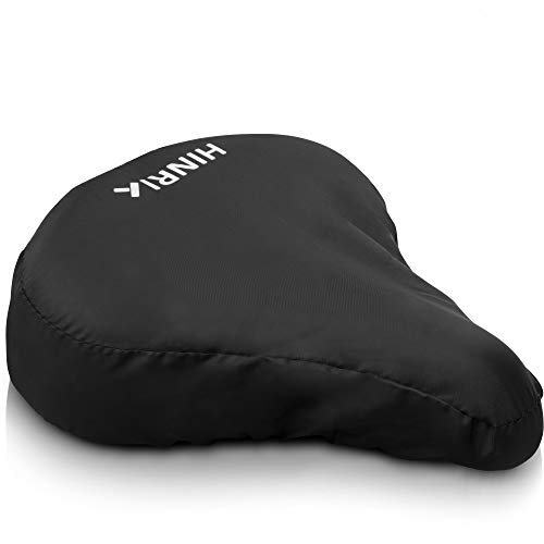 hinri fietszadel hoes waterdicht met reflectoren - zadel afdekking zwart voor brede en smalle zadels incl. reisleider in ebookformaat | zadelhoes