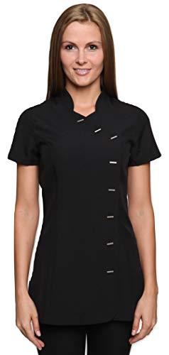 Mirabella Health & Beauty Damen Berufsbekleidung Kasack Arete Schwarz, Gr.- 40/Herstellergröße- 12