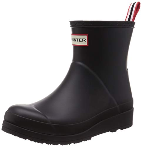 HUNTER Women's Rain Boot, Black, us-6