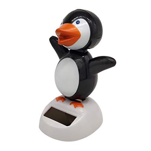 Toygogo Solar Powered Toy Bobbing Head & Body, Mini Cartoon Penguin Figures, Dashboard Car Decor, Home Office Desktop Ornaments