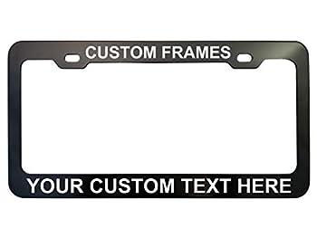 GoPlates License Frames Customized Plate Frame Laser Engraved  Cool Black