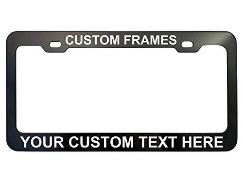 GoPlates License Frames Customized Plate Frame Laser Engraved (Cool Black)