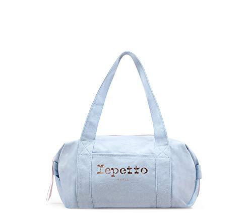 Repetto Sac Polochon Taille S - Bleu Porcelaine - 100%...