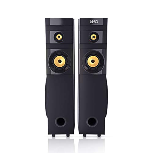Philips Audio Tower Speaker SPA1100/94, 100W, with Speaker top Controls, Durable Wooden Cabinet with Matt Finish, Bluetooth, HDMI Input, FM Radio, Audio-in and USB (Black)