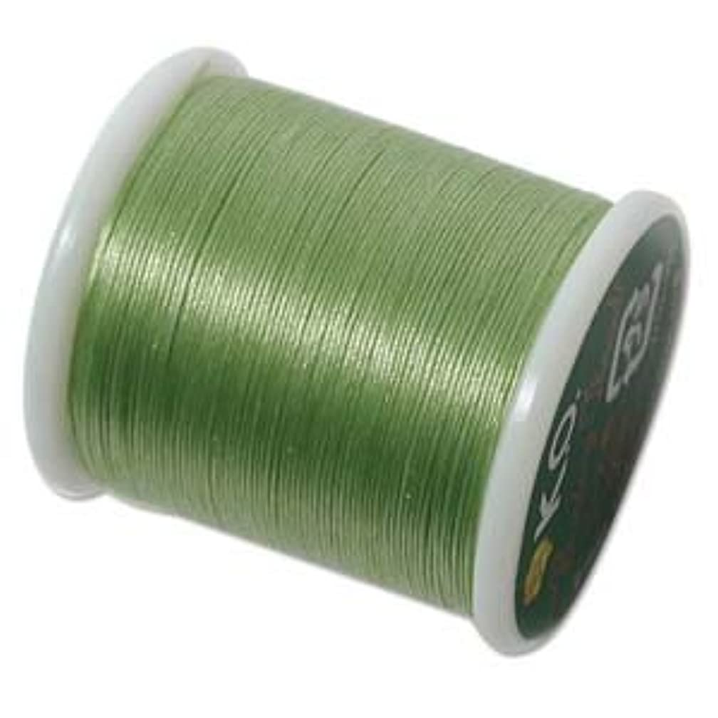 Japanese Nylon Beading K.O. Thread for Delica Beads - Apple Green 50 Meters