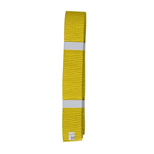 Lisaro Pas do sportów walki Karate Judo Taekwondo Ju Jutsu BJJ pas rozm. 160-300 cm (żółty, 280)