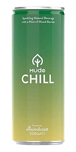 MUDE Chill Natural Relaxation Drink, With a Hint of Mixed Berry, Chamomile, Ashwagandha, Vegan, & Gluten Free Drink, 330ml (Pack of 12)
