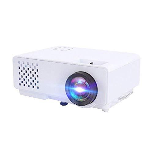 Mini proyector Mini proyector 4K Ultra HD Imagen de la Pantalla del teléfono Fundido del proyector con la Corrección Trapezoidal Miniatura Dormitorio de Cine en casa es Compatible con d