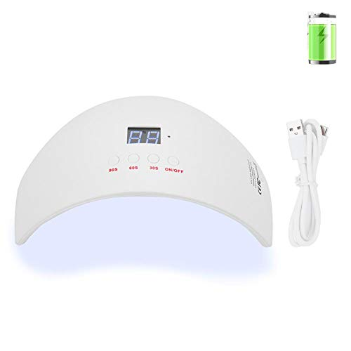 LED UV Dual Light Source Nail Dryer, Professional Fashion Nail Lamp voor Gel Nagellak, Nail Curing Sneldrogende Manicure Machine met LCD Display voor Salon en Thuisgebruik(Plug in)