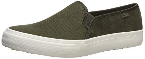 Keds womens Double Decker Suede Sneaker, Forest Green, 6.5 US