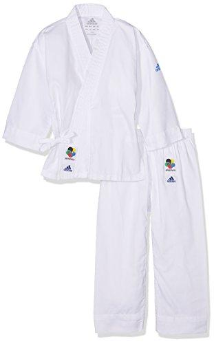 adidas 200E Evolution Kimono Enfant, Blanc, FR : M (Taille Fabricant : 120 130)