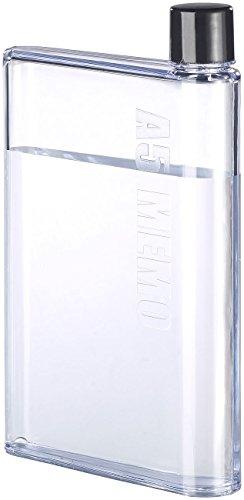 Rosenstein & Söhne Trinkflasche flach: Ultraflache Wasser-Flasche im A5-Notizbuch-Format, 420 ml (Flache Flasche)