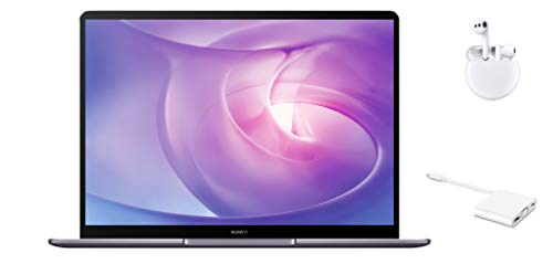 HUAWEI MateBook 13 2020 - 13 Zoll Laptop 2K FullView Display Ultrabook, AMD Ryzen 5 3500U, 8GB RAM, 256 GB SSD, Fingerabdrucksensor, Huawei Share, Windows 10 Home, grau + Freebuds 3 & MateDock 2
