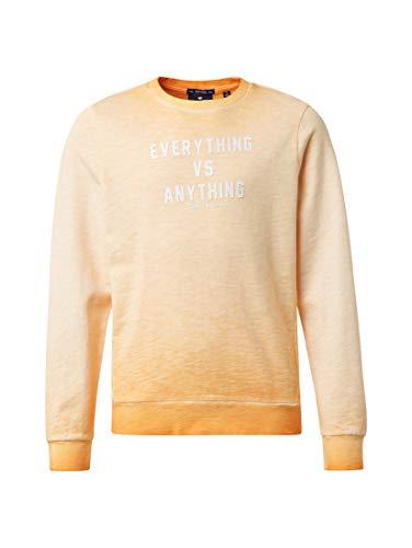 TOM TAILOR Jungen Strick & Sweatshirts Sweatshirt mit Print orange pop|orange,176