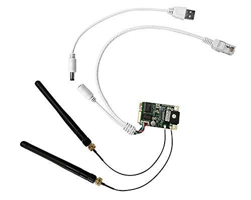 Vonets Módulo Wifi VM300 2.4G WiFi Bridge Repetidor inalámbrico Mini router WiFi Hotspot adaptador RJ45 Ethernet con antena para DIY ingeniería dispositivo de red