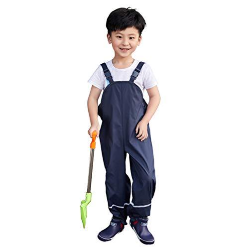 Xisimei Unisex Kinder Regenlatzhose,Winddicht und wasserdichte Matschhose Regenhose für Jungen Mädchen Latzhose Skihose Wanderhose