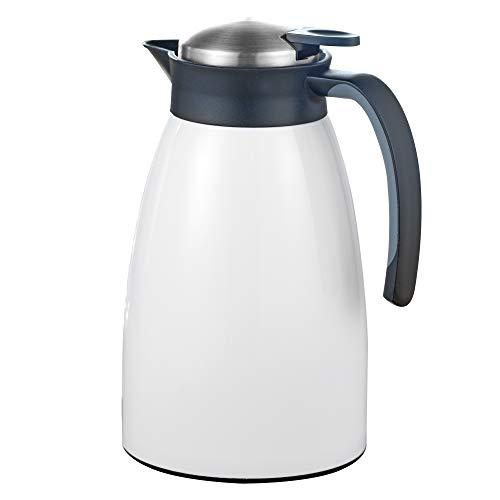 Esmeyer Isolierkanne, Edelstahl, Weiß, 1,5 Liter