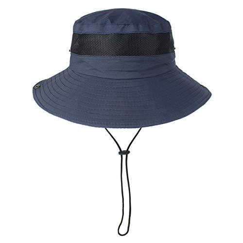 Zhhlaixing Protecci/ón UV Sombrero para el Sol Playa de Verano Pesca Plegable Sombrero de ala Ancha con Correa Ajustable para la Barbilla y Malla Transpirable