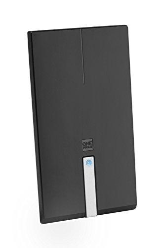 One For All DVB-T/DVB-T2 Indoor/Zimmerantenne - 4K 1080P HD/HDTV Fernseher TV Antenne mit Verstärker - 0-25 km Reichweite – 1.5 meter Koaxialkabel - UHF/VHF - Schwarz - SV9425