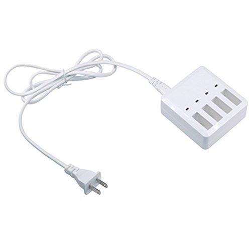 Cargador de batería inteligente 4 en 1 Tablero de cargador paralelo con cable de alimentación para Minidrones de loro