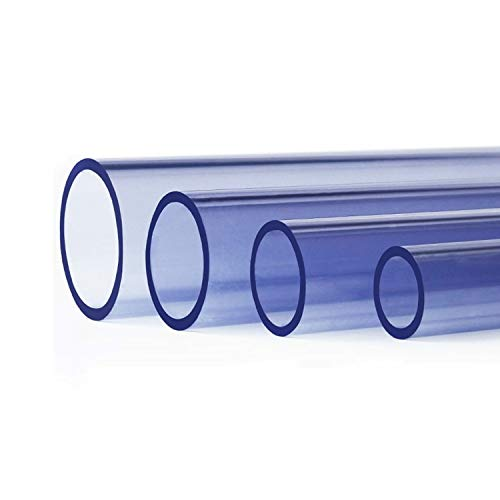 ZZYEUIO PVC Starrer Rundschlauch, Acrylrohrlänge 100 cm Durchmesser 16mm-110 mm, Aquarium-Bewässerungsrohr, 1 Stück (Size : 75mm*4.5mm)