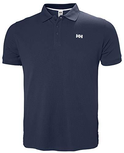 Helly Hansen Driftline Polo Maglia T-Shirt con UPF 30+ e Tessuto Tactel a Maniche Corte, Design Sportivo e Casual, per Sci, Escursionismo, Vela e per Uso Quotidiano , Blu (597 Navy), XL, Uomo