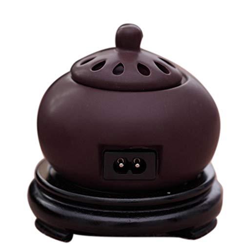 QQAA Aroma Diffuser, Innengebrauch Elektronischer Duftbrenner, Elektrischer Duftbrenner Der Einsteckkeramik, AdlerholzholzsandelholzöL, Justierbare Temperatur
