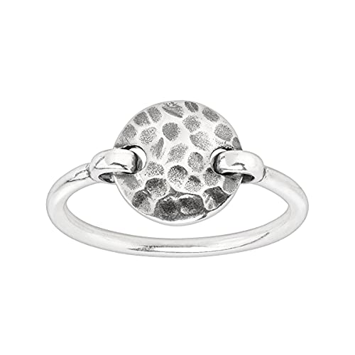 Silpada 'Seychelles' Hammered Disc Floater Ring in Sterling Silver, Size 6
