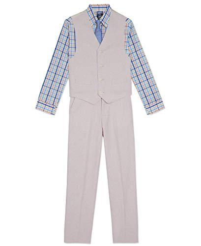 Izod Toddler Boys 4-Piece Formal Suit Vest Set, Sanibel Peach, 4T