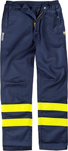 S-ROX WORKTEAM Schweißerhose, feuerhemmend und antistatisch, dreifache Naht, zwei offene Taschen an den Seiten und zwei Herren-Taschen, R-B1494-MR/AAV-XXL, Blau, R-B1494-MR/AAV-XXL XXL