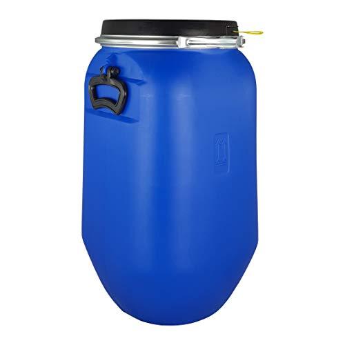 Bidón 30 Litros Cierre Ballesta Hermético de Plástico con Asas, para productos químicos y uso alimentario, estanco, Homologado ADR. (1 Unidad)