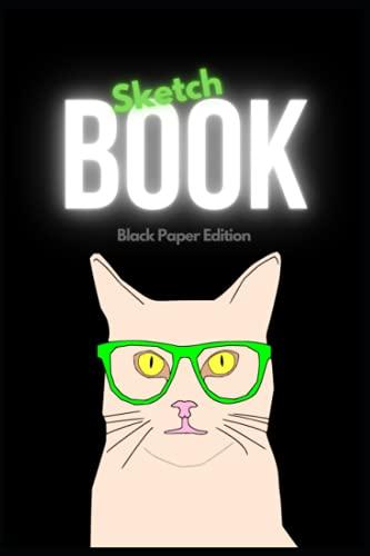 Skizzenbuch Zeichenbuch Malbuch ○ Student Sketchbook Black Paper Edition kreatives Geschenk ○ Schwarzes Papier A5 100 Seiten mit weißem Rahmen