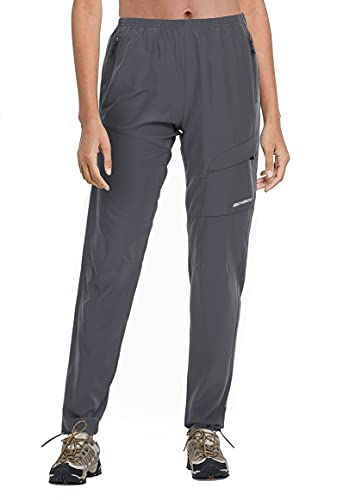BenBoy Pantaloni Trekking Donna Impermeabile Asciugatura Rapida Traspiranti Pantaloni Casual Arrampicata Softshell Outdoor Pantaloni da Montagna Sportivi,KZ2016W-Grey-M