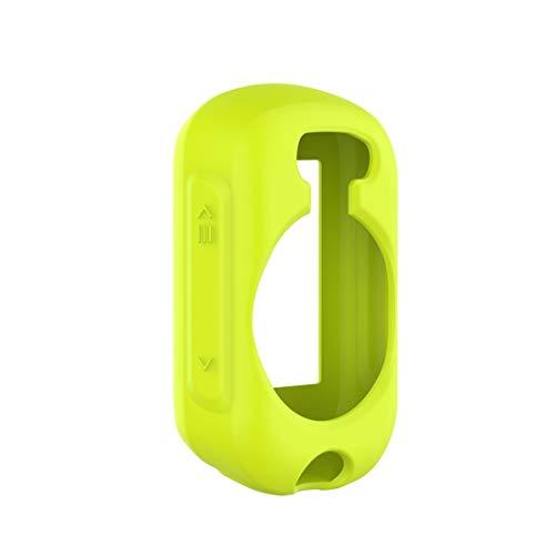 JIERUICHUAN Protector de Pantalla LLD for Garmin Edge 130 Plus/Edge 130 Universal Silicone Funda Protectora Cáscara Transparente (Color : Lemon Green)