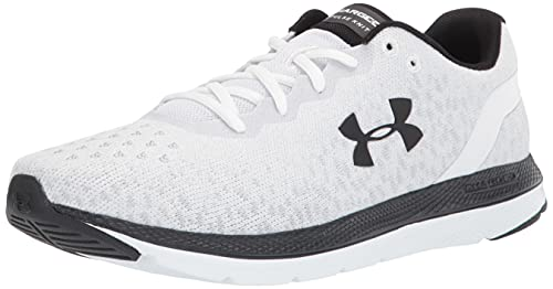 Under Armour Men's Charged Impulse Knit Running Shoe, White (104)/White, Numeric_10